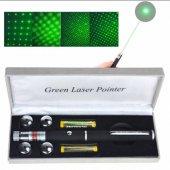 5 Kafalı Kalem Görünümlü Yeşil Lazer Pointer 3000 Mw 15 Km Etkili