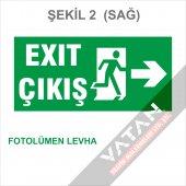 Acil Çıkış Exit Yönlendirme Levhası Fotolümen 25x12,5 3 Mm Dekota