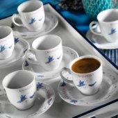 Kütahya Porselen Yasemin 12 Parça 10228 Desen Kahve Takımı