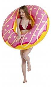 Pembe Donut Yüzdürücü Yüzme Simidi Flotoru 037353