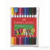 Faber Castell Çift Uçlu Keçeli Kalem 10 Renk