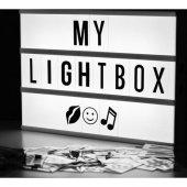 Dekoratif A4 Ebat Büyük Boy Lightbox Sinematik Led Işık Kutusu