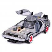 Geleceğe Dönüş Seri 3 Metal Model Araba Efsane Delorean 1 24 Ölçe