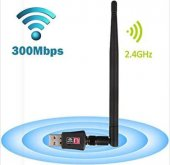 Wireless Usb Adaptör Kablosuz Antenli Usb Wifi Alıcı 300 Mbps