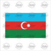 Azerbaycan Bayrağı Sticker 18005