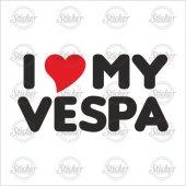 ı Love My Vespa Sticker 14088