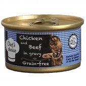 Chefs Choice Gravy Tavuklu Biftekli Tahılsız Kedi Yaş Mama 80 Gr