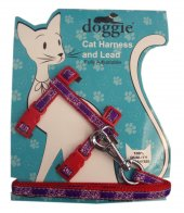 Doggie Gülücük Kedi Göğüs Tasması 22 36 Cm Kırmızı...