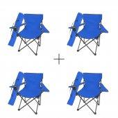 Dört Adet Katlanır Kamp Plaj Sandalyesi