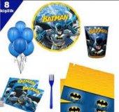 8 Kişilik Batman Parti Seti Batman Doğum Günü Seti