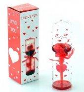 14 Şubat Sevgililer Günü Kırmızı Kalpli Aşk Ölçer