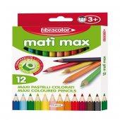 Fibracolor Mati Max Jumbo Kuru Boya Kalemleri 12 Renk