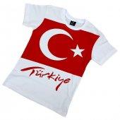 Türk Bayrağı Baskılı Beyaz Çocuk Tişörtü 23 Nisan ...
