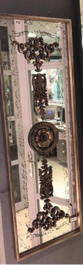 Sadehomedecor Lucky Art Bronz Dikey Ayna 40*121cm (1 Adet)