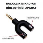 Mikrofon Kulaklık Birleştirici Aparat Adaptör