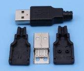 Usb Erkek Soket 4 Pin Plastik Kapaklı Usb Bağlantı