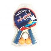 Masa Tenisi Raket Seti 2 Raket Ve 3 Top Pinpon Raketi Seti Yeni