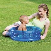 Plaj Topu Hediye Bestway 51112, 3 Bölümlü Şişme Zeminli Bebek Havuzu, (64 X 25 Cm)