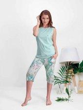Pierre Cardin Bayan Yeşil Kaprili Pijama Takımı 7521