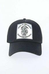 Siyah Renk Danger Tasarımlı Şapka