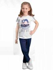Arnetta Kız Çocuk Krem Kısa Kol Pijama Takımı 114 C