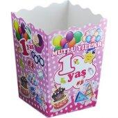 Popcorn Kutusu Karton 1 Yaş (Mısır Cips Kutusu) (12 Adet)