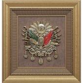 58x61 Cm Lüks Osmanlı Devlet Arması Çerçeve