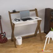 Modilayn X Çalışma Masası Beyaz Ceviz Ard309