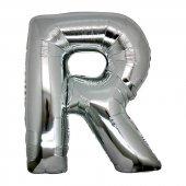 R Harf Folyo Balon Gümüş Renk 40 İnç