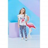 Roly Poly Flamingo Kısa Kol Kız Çocuk Pijama Takım...