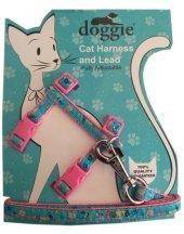 Doggie Kitty Kedi Göğüs Tasması 22 36 Cm Pembe...