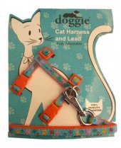 Doggie Patili Kedi Göğüs Tasması 22 36 Cm Turuncu...
