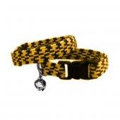 Elastik Örme Kedi Tasması Sarı Siyah 10 Mm A 23 32...