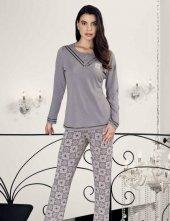 şahinler Zakkum Nakışlı Bayan Pijama Takımı Mbp24407 1