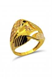 Cigold 14 Ayar Altın Taşsız Yüzük Yz0334042580