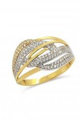 Cigold 14 Ayar Altın Taşlı Yüzük 23k1yz02510002127
