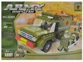 Mesleki Araç Yapı Seti 185 Parça Eğitici Askeri Ambulans Aracı Yapboz Oyunları Meslek Setleri