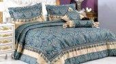 Vinaldi Ravel Yatak Örtüsü Mavi