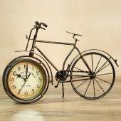 Dekoratif Büyük Boy Metal Bisiklet El Yapımı Masa Saati Ofis