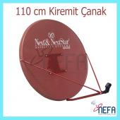 Next 110 Cm Delikli 0,7 Mm.kiremit Renk Ofset Çanak Anten
