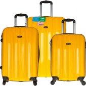 Tutqn Kırılmaz 3'lü Valiz Seti Sarı (Büyük+orta+ka...