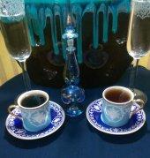Altın Yaldızlı ,ithal 6 Kişilik Kahve Fincan Takım...