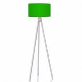 Kumaş Başlıklı 3 Ayaklı Tripod Lambader Yeşil Başl...