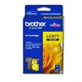 Brother Lc 67y Sarı 325 Sayfa Kartus Mfc 795cw, Mfc J615w