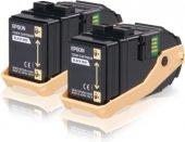 Epson C13s050609 Ikılı Black Toner Al C9300dn, Al C9300dtn, Al