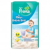 Prima Mayo Bebek Bezi 3 4 No 6 11 Kg 12 Li