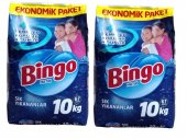 Bingo Matik Toz Çamaşır Deterjanı Sık Yıkananlar 10 Kg 2 Adet