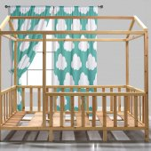 Montessori Yatak Cam Ağaç Subazli Vernikli İmalattan Satış En Uygun Fiyata