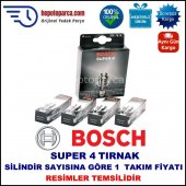 Peugeot Partner 1.1i 07.1996 08.2002 Bosch Buji Seti Süper 4 Buji (4 Tırnaklı) 4 Adet