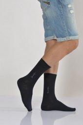 Mıkro Motifli Erkek Soket Çorabı Lacivert E Art226